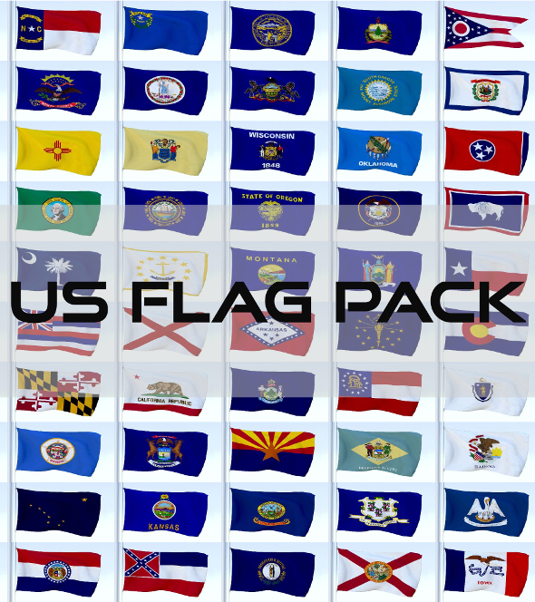 3DOcean Animated US Flag Pack 21082097