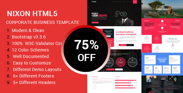 Nixon - Responsive Multi-Purpose HTML Template - Business Corporate