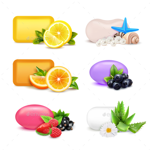 GraphicRiver Soap Aroma Bars Set 21082151