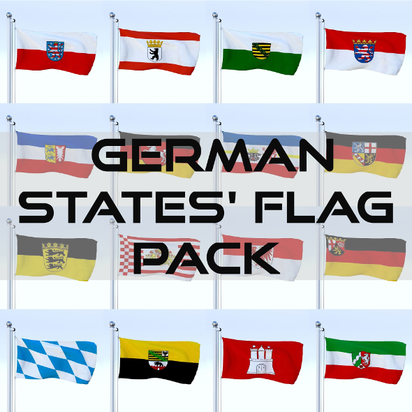 Animated German Flag Pack - 3DOcean Item for Sale