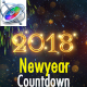 New Year Countdown 2018 - Apple Motion