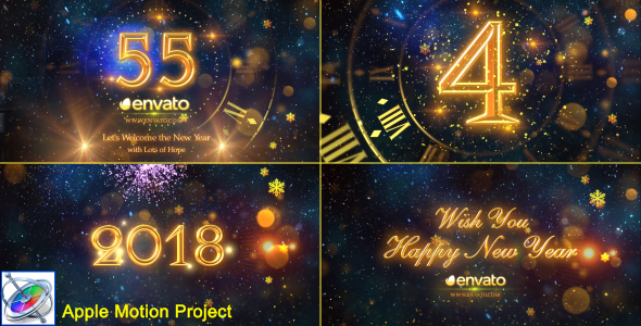 VideoHive New Year Countdown 2018 Apple Motion 21082188