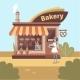 Girl near Bakery