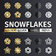 Golden and Silver Snowflake Icons - GraphicRiver Item for Sale