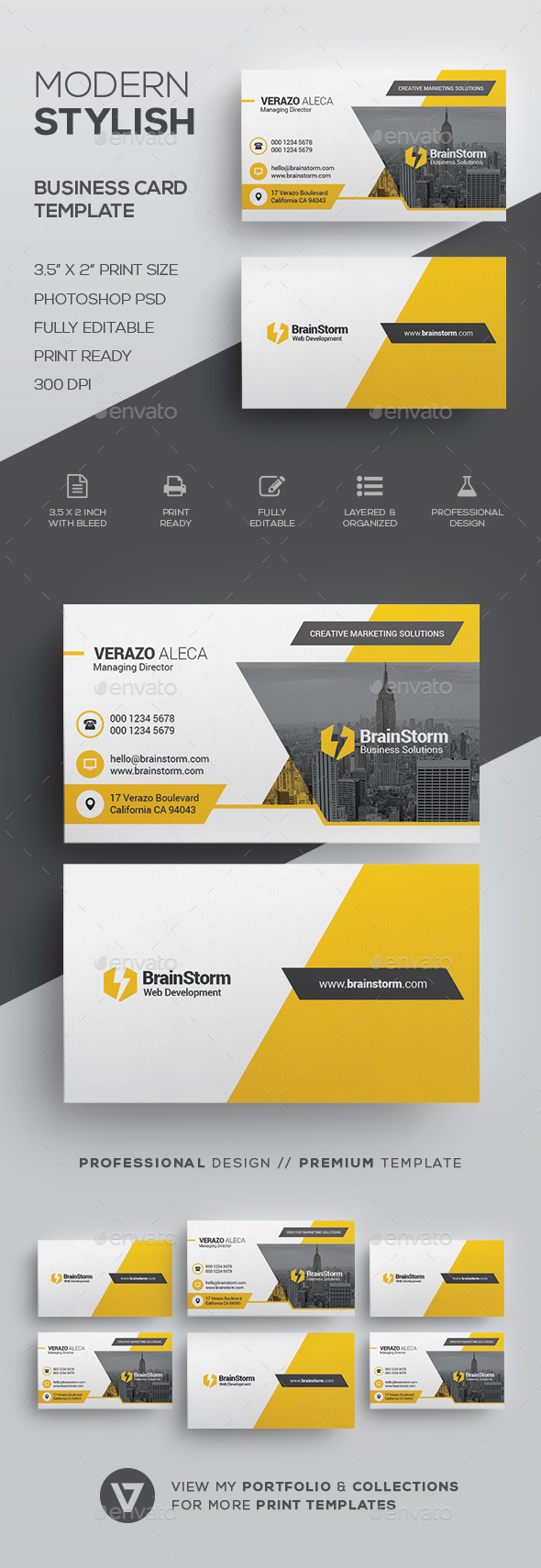 Creative Modern Business Card Template by verazo | GraphicRiver