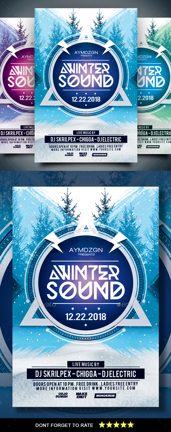 Winter Sound Flyer - Clubs & Parties Events