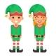 Cartoon Flat Design Elf Boy And Girl Characters