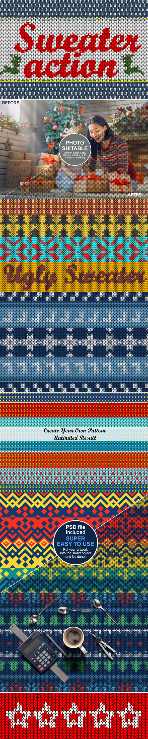GraphicRiver Ugly Christmas Sweater Action 21082867