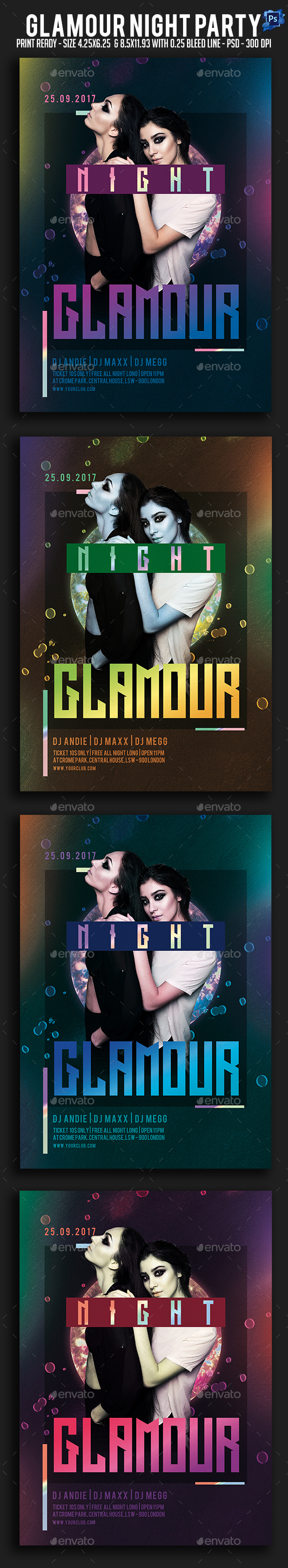 GraphicRiver Glamour Night Party Flyer 21082901