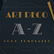 Art Deco A-Z Logo Templates - GraphicRiver Item for Sale