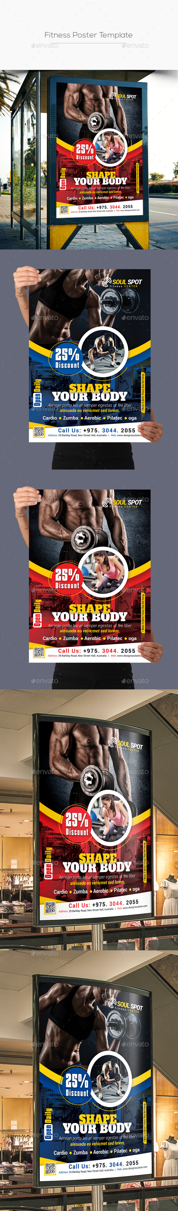 GraphicRiver Fitness Poster 21082939