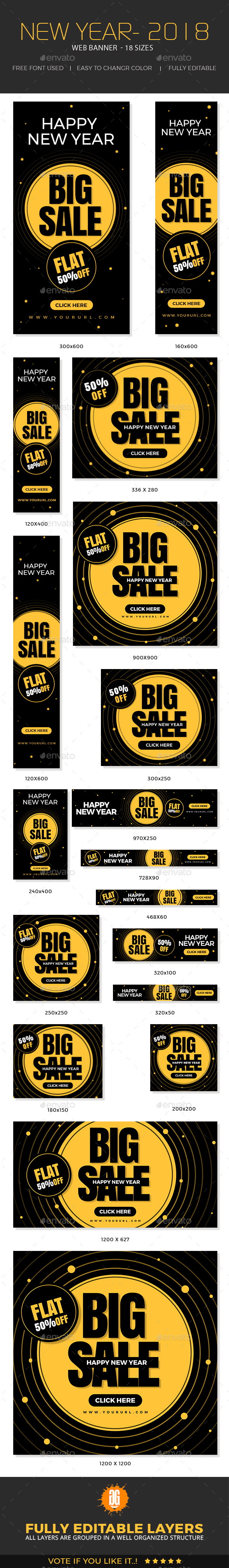 GraphicRiver New Year Banners 21083044