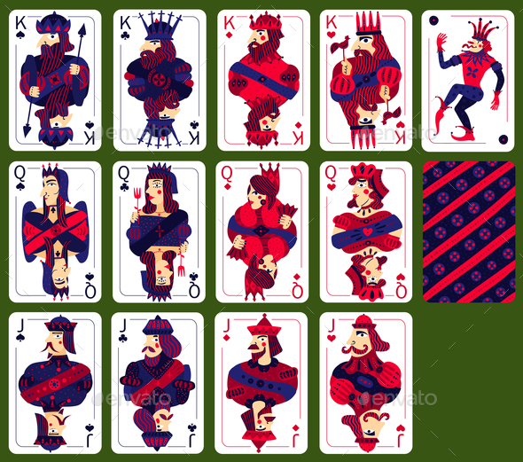 Poker Playing High Cards Set - Miscellaneous Vectors
