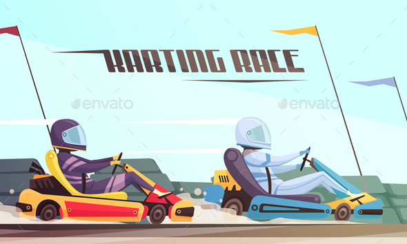 GraphicRiver Kart Racing Illustration 21083105