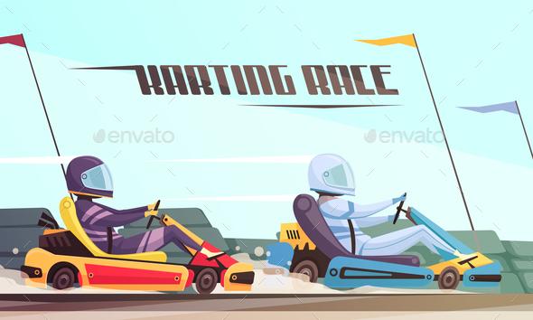 Kart Racing Illustration - Sports/Activity Conceptual