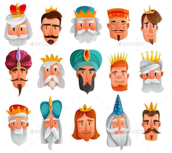 GraphicRiver Royal Characters Cartoon Set 21083110