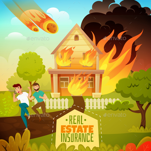 GraphicRiver Natural Disaster Illustration 21083115