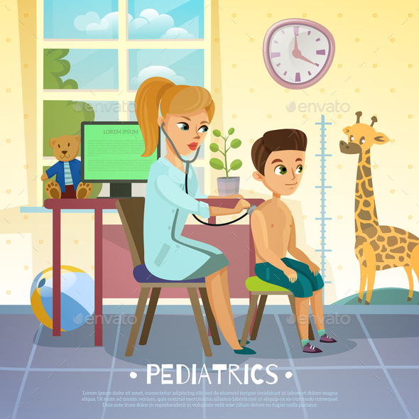GraphicRiver Pediatric Department Illustration 21083119