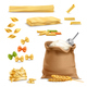 Realistic Pasta Wheat Spikelets Flour