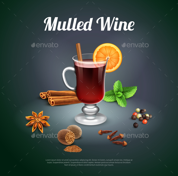 Mulled Wine Background - Seasons/Holidays Conceptual
