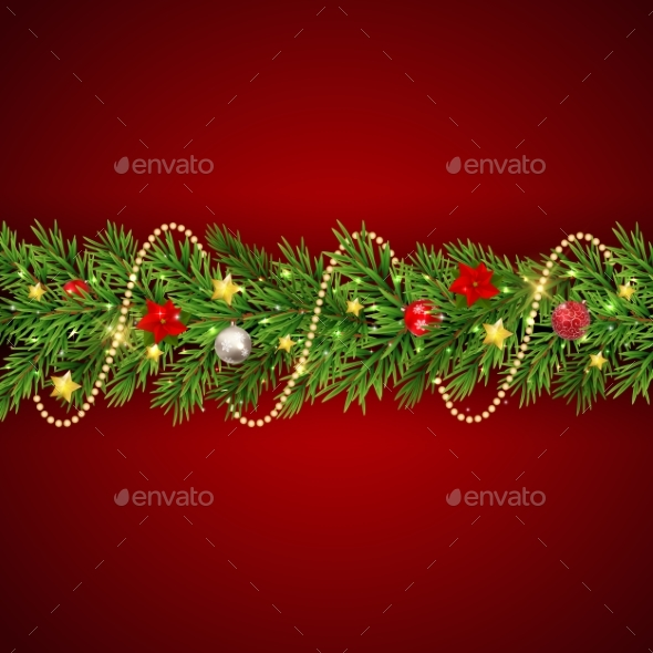 GraphicRiver Merry Christmas and New Year Background 21083206