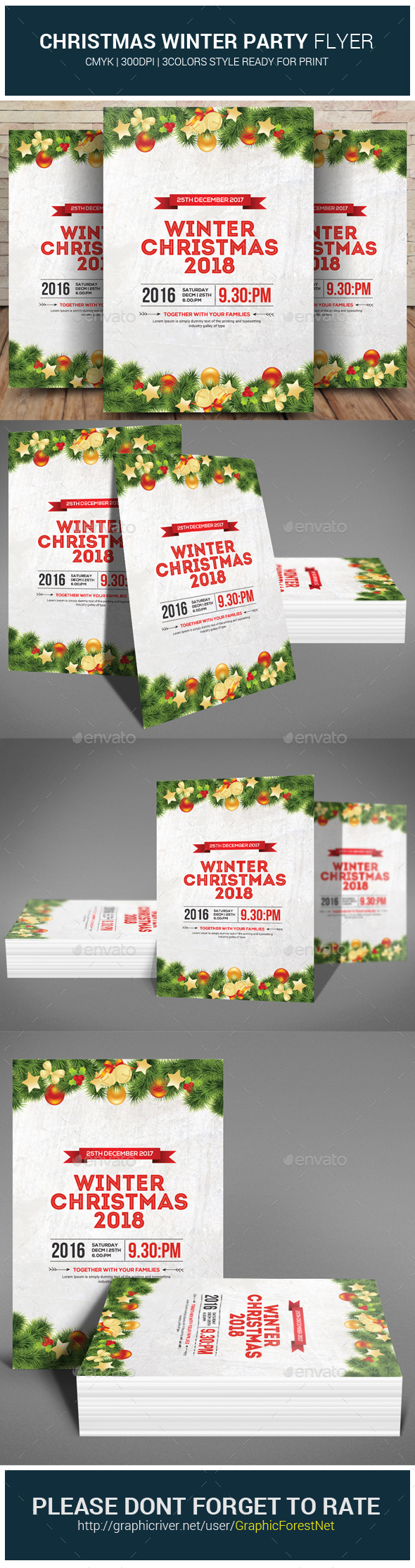 GraphicRiver Christmas Winter Party Flyer 21083271