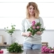 Woman Florist Makes Flower Bouquet - VideoHive Item for Sale