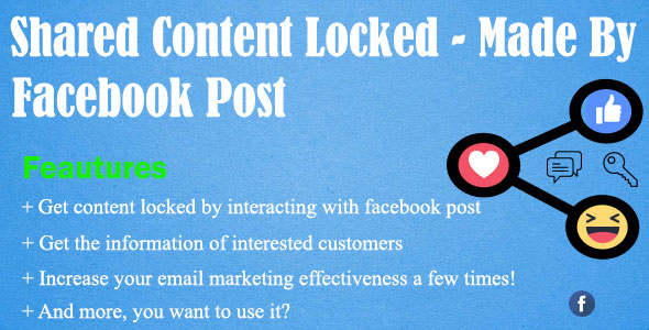 CodeCanyon Shared Content Locked Made By Facebook Post 21083371