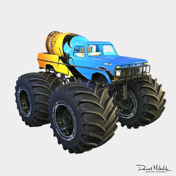 3DOcean Monster Truck Bigfoot PBR 21083678