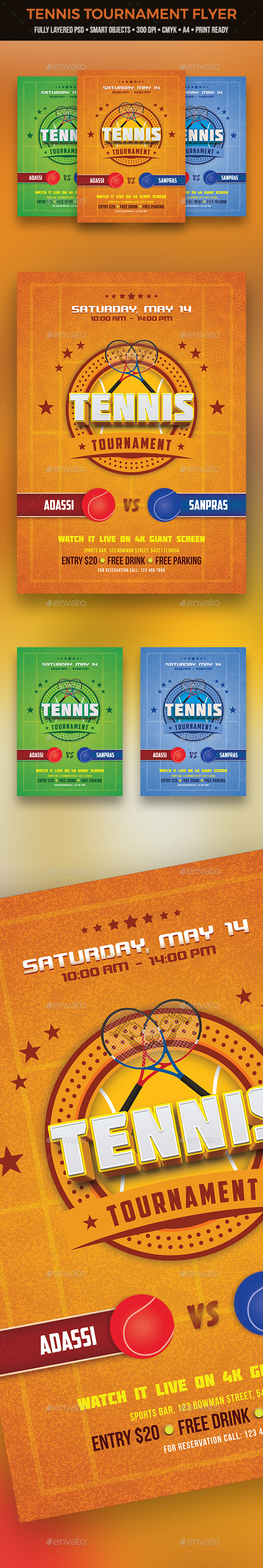 Tennis Tournament Flyer - Sports Events