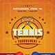 Tennis Tournament Flyer - GraphicRiver Item for Sale