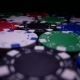 Poker Chips Spin on the Table in Darkness - VideoHive Item for Sale
