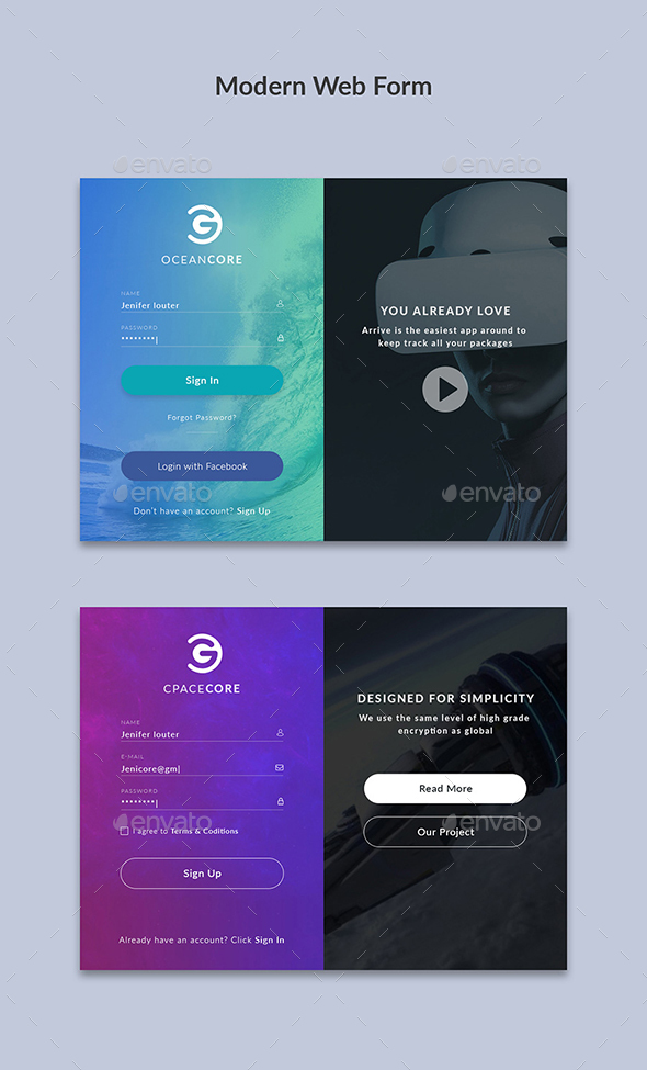 GraphicRiver Modern Web Form 21083737