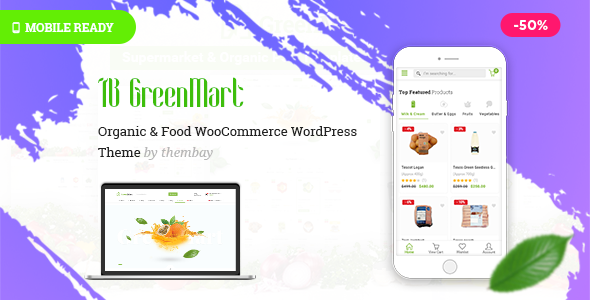 ThemeForest GreenMart Organic & Food WooCommerce WordPress Theme 20754270