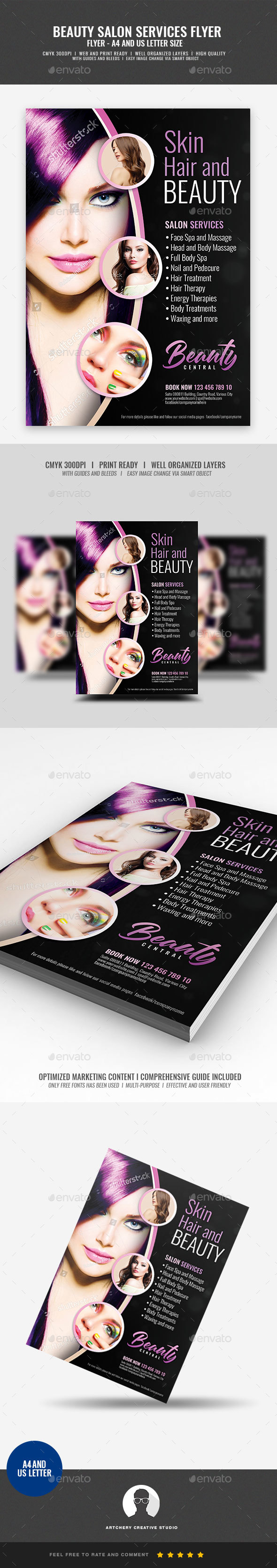 Hair and Makeup Center Flyer - Corporate Flyers