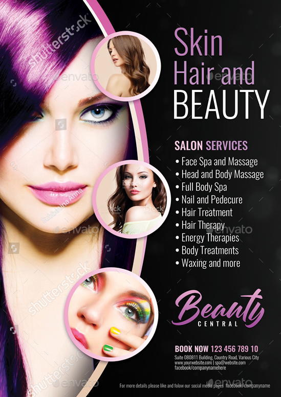hair and makeup center flyer by artchery
