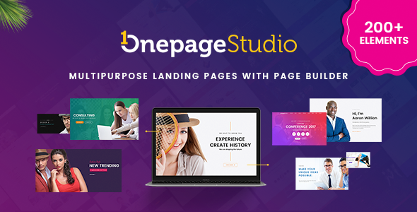 Image of Onepage Studio - Multipurpose Landing Page with Page Builder