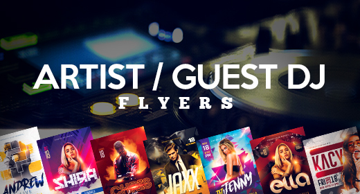 Recommended Guest DJ Flyers