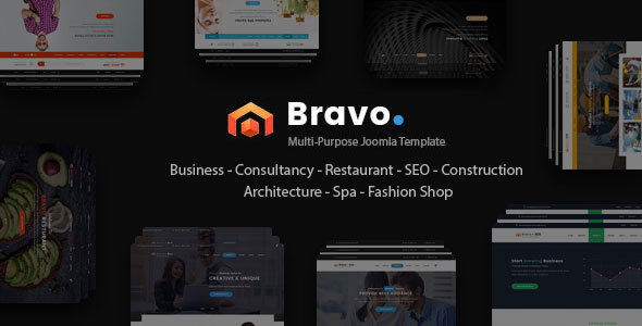 Image of Bravo - Responsive Multi Purpose Joomla Template