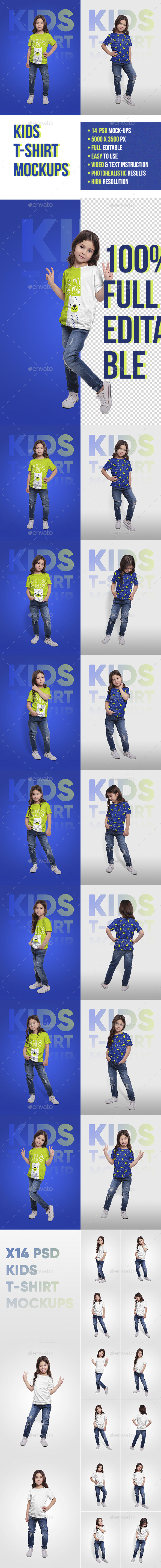 Kids T-Shirt Mockups - T-shirts Apparel