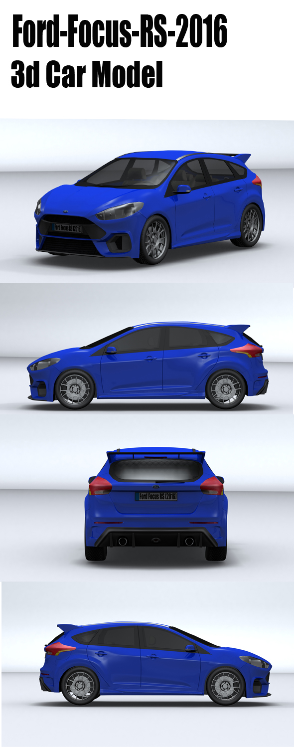 Ford-Focus-Rs-2016 - 3DOcean Item for Sale