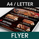 Barbecue Restaurant and Steak House Flyer