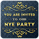 Golden NYE Party - Invitation - GraphicRiver Item for Sale