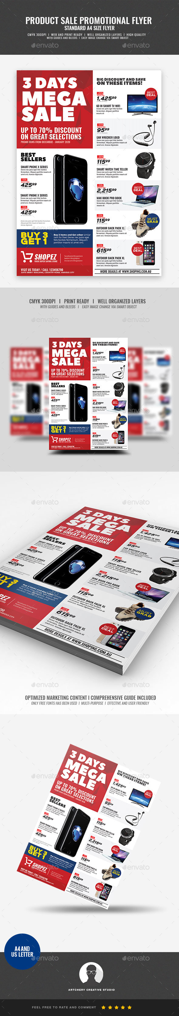 GraphicRiver Promotional Sales and Holiday Events Flyer 21084335