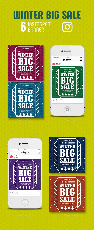 GraphicRiver Winter Big Sale Instagram Banner 21084342
