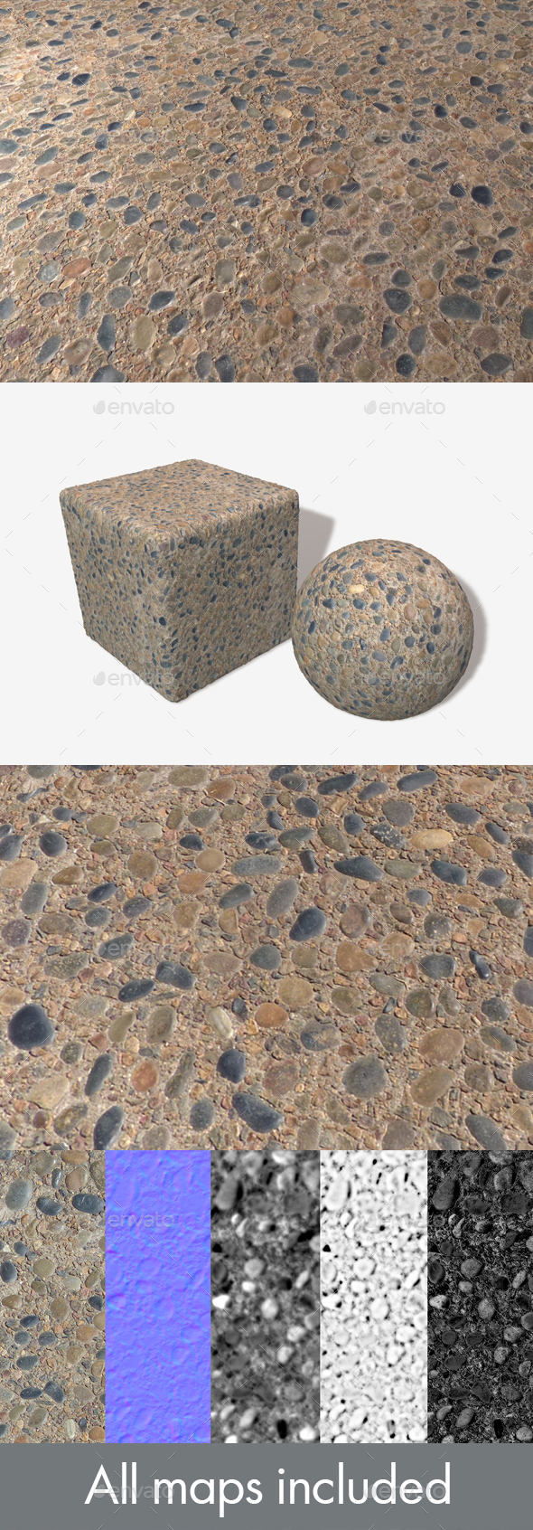 3DOcean Pebble Sidewalk Seamless Texture 21084555