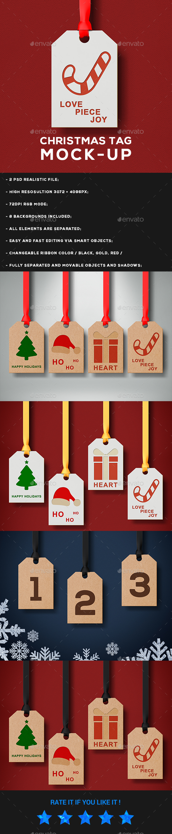 Christmas Tag Mock - Up - Miscellaneous Print