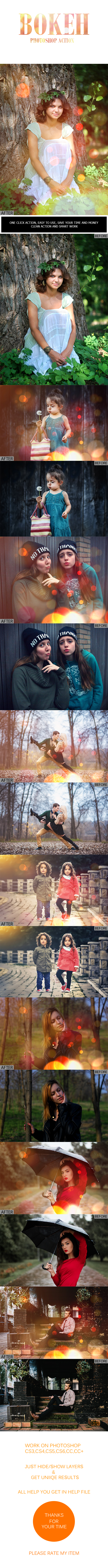 GraphicRiver Bokeh Photoshop Action 21067830