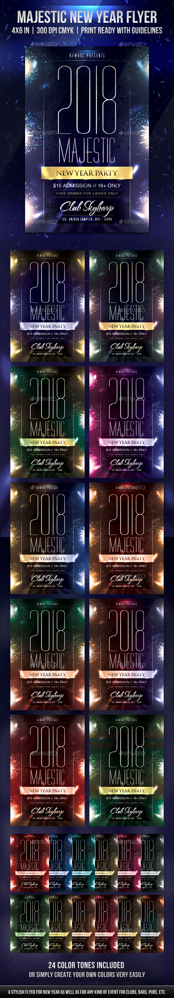 Majestic New Year Flyer - Holidays Events