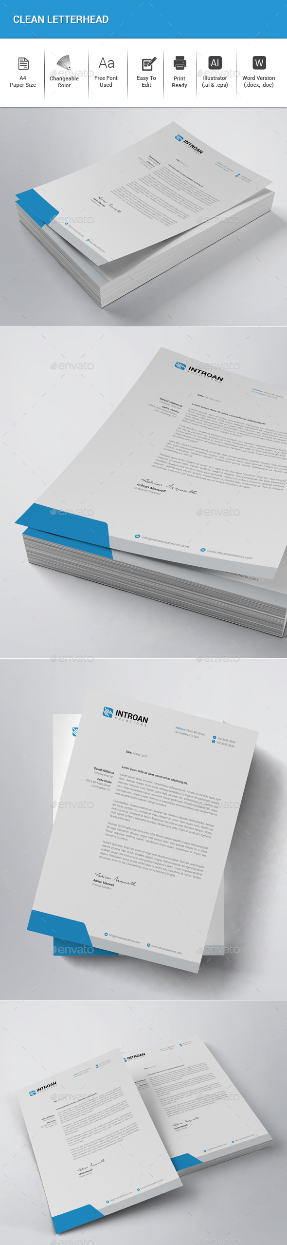 GraphicRiver Clean Letterhead 21084938